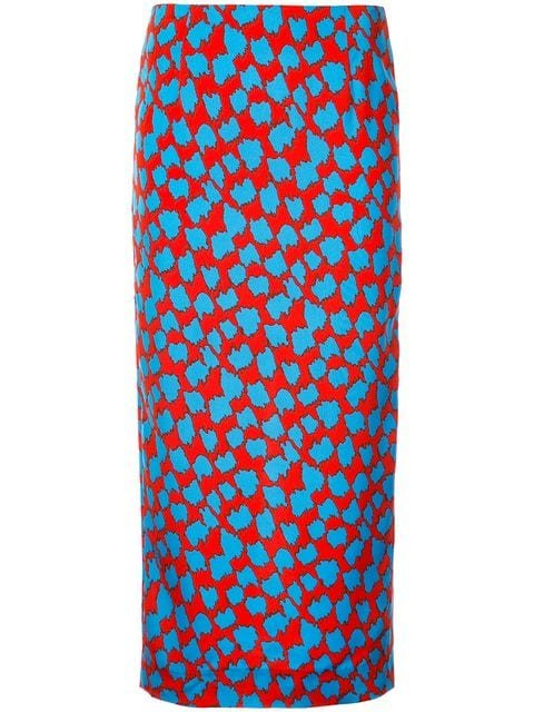 Dvf Diane Von Furstenberg Retro Print Pencil Skirt  - Farfetch