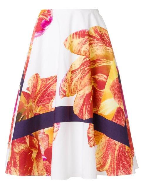 Salvatore Ferragamo Printed Flared Skirt - Farfetch