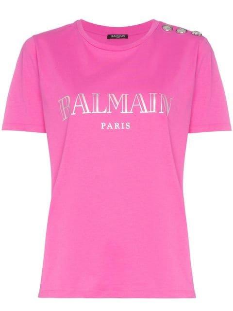 Balmain Paris Logo Cotton T-shirt - Farfetch