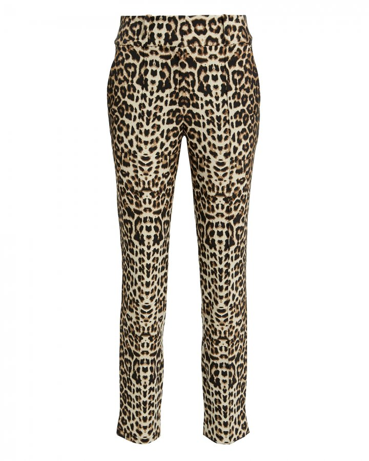 Leopard High-Rise Trousers