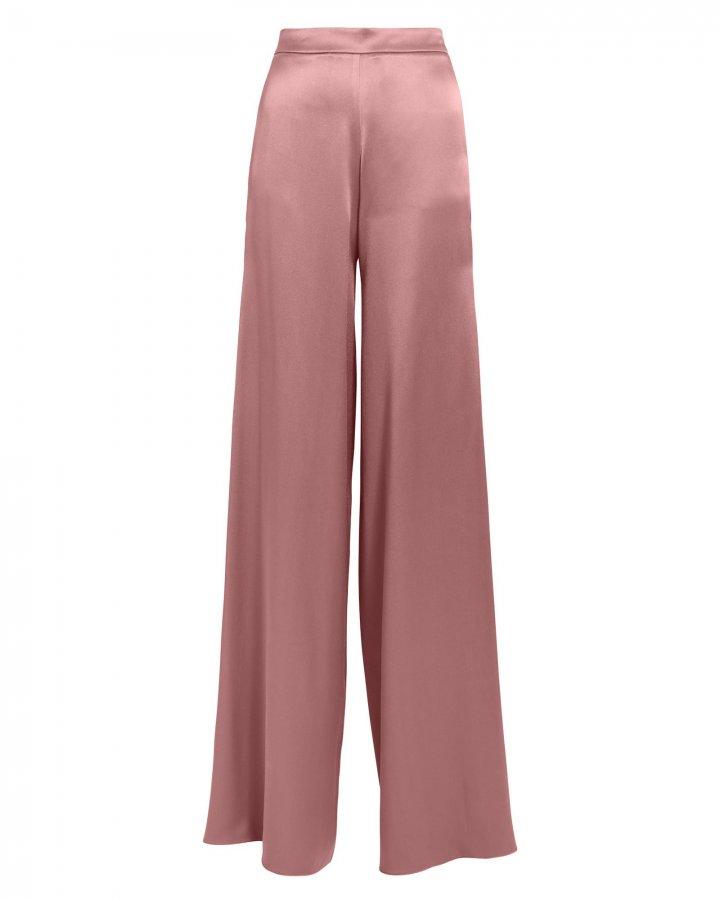 High Waist Silk Mauve Pants
