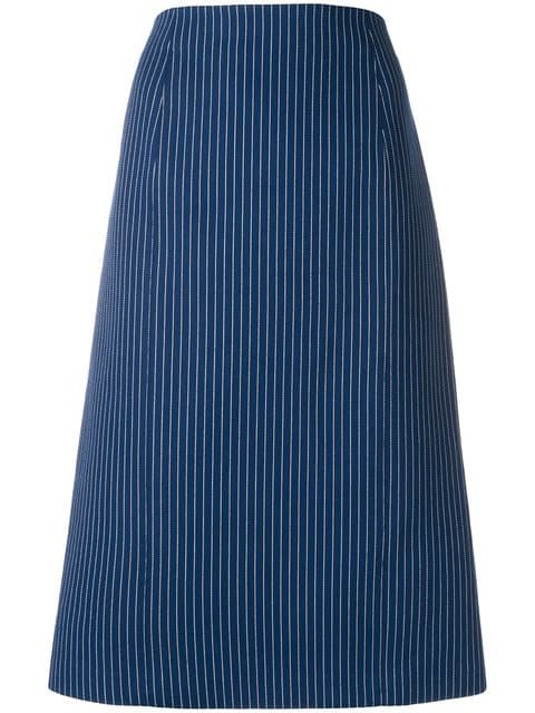 Fendi Pinstripe Midi Skirt - Farfetch