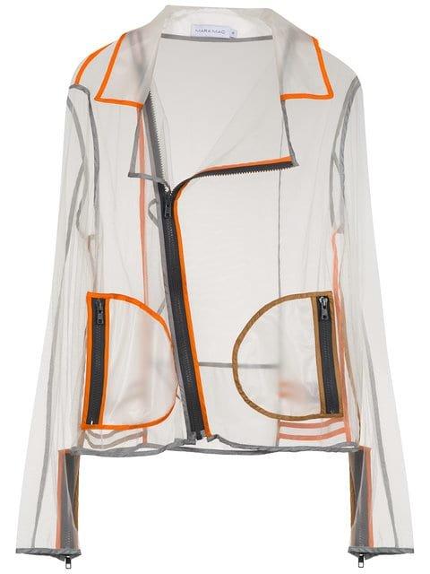 Mara Mac Transparent Biker Jacket - Farfetch