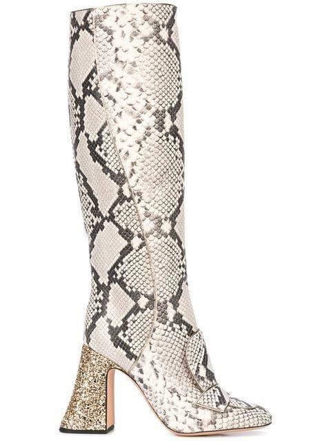 Rochas Knee High Boots - Farfetch