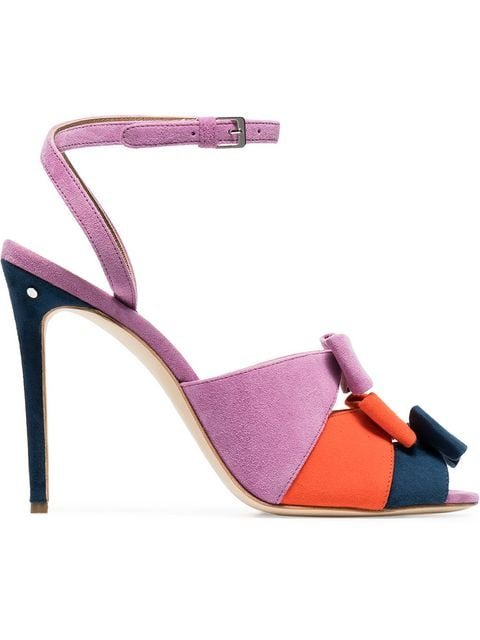 Laurence Dacade Multicoloured Lana Bow 105 Leather Sandals - Farfetch