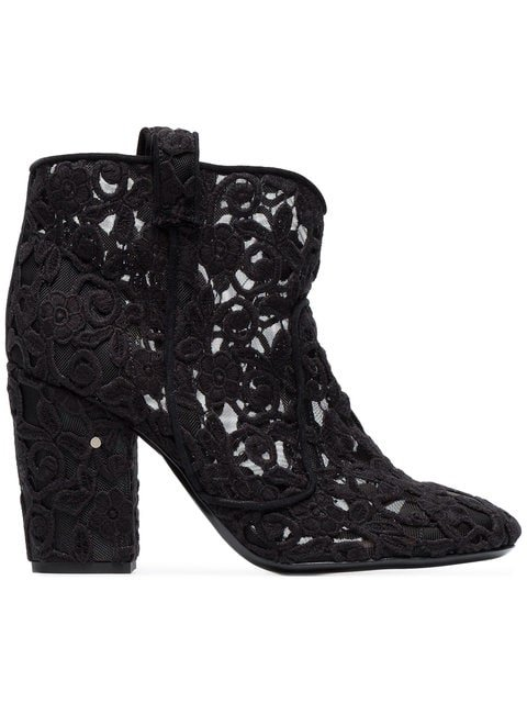 Laurence Dacade Black Pete 95 Crochet Ankle Boots - Farfetch