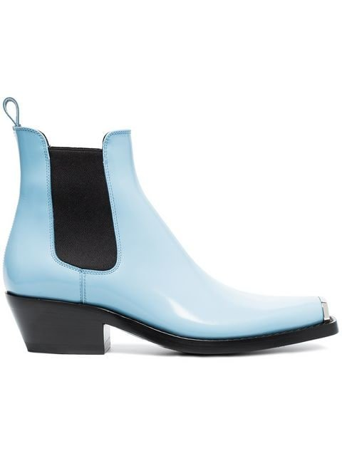 Calvin Klein 205W39nyc Blue Claire 40 Leather Western Boots - Farfetch