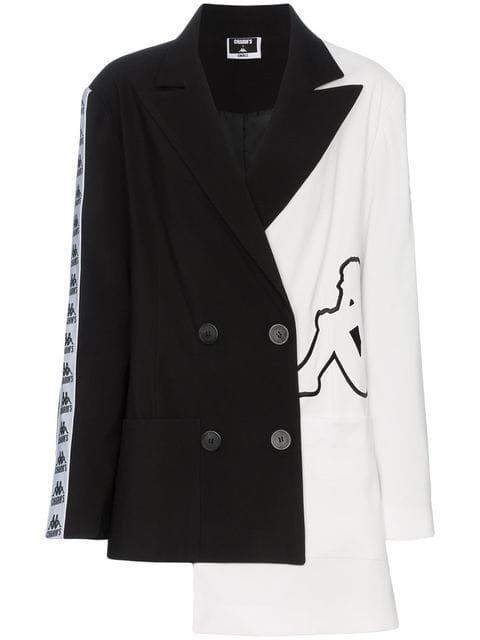 Charm\'s x Kappa Logo Detail And Asymmetric Hem Blazer Jacket - Farfetch