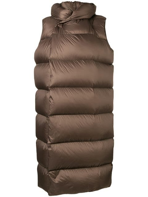 Rick Owens Long Length High Neck Puffer Jacket - Farfetch