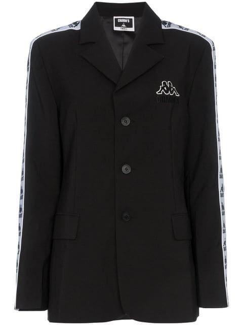 Charm\'s x Kappa Logo Embroidered Single Breasted Blazer Jacket - Farfetch