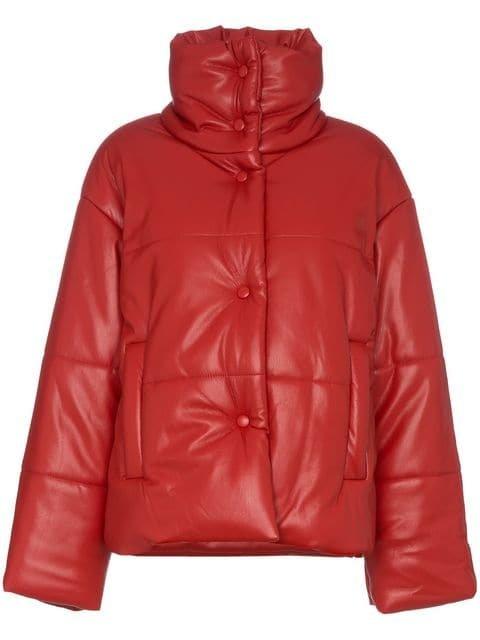 Nanushka Hide Faux Leather Puffer Jacket - Farfetch