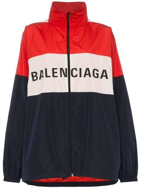 Balenciaga Logo Colourblock Windbreaker - Farfetch