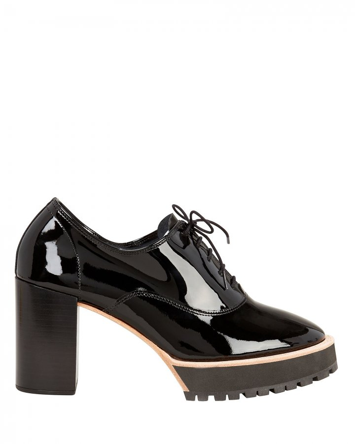 Brogue Patent Leather Pumps