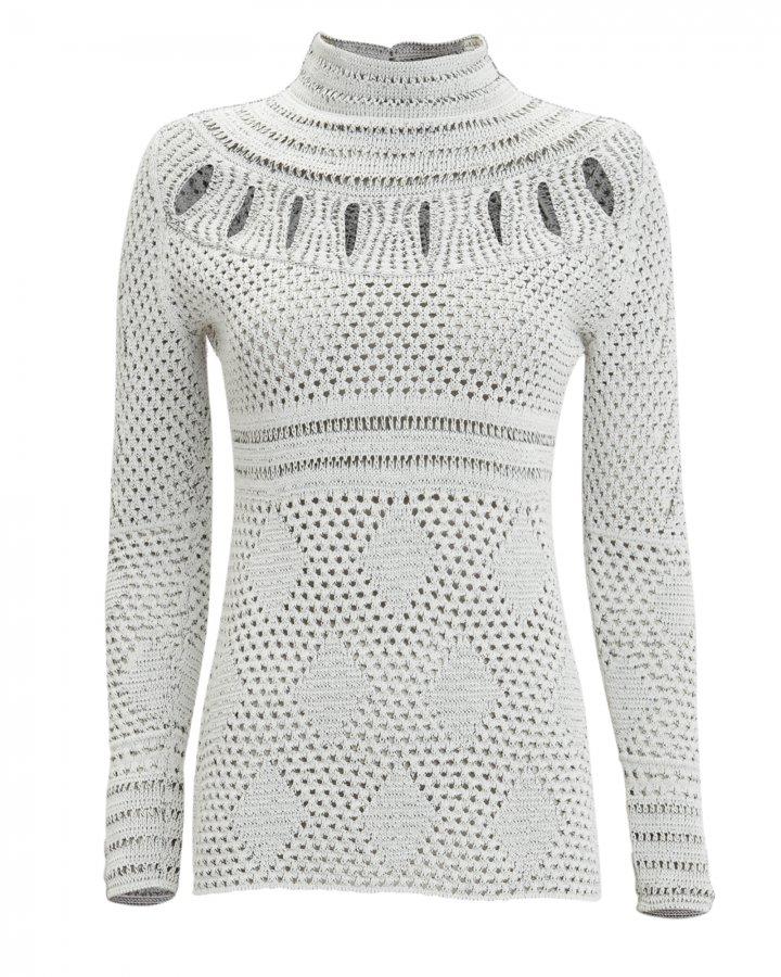 Turtleneck Crochet Top
