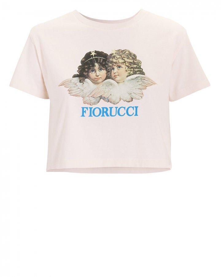 Vintage Angels Cropped Pink T-Shirt