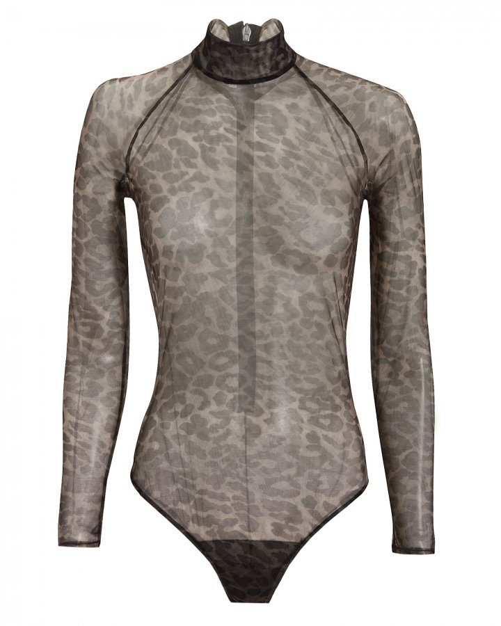 Leopard Mesh Bodysuit