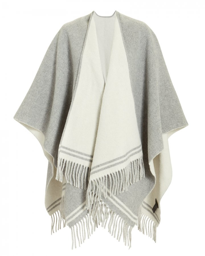 Striped Grey Poncho
