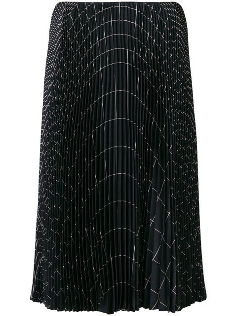 Salvatore Ferragamo Pleated A-line Skirt  - Farfetch