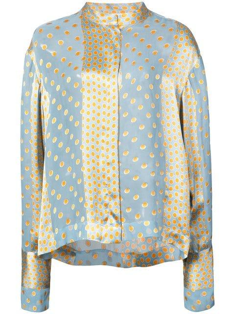 Dvf Diane Von Furstenberg Polka Dot Panelled Shirt - Farfetch