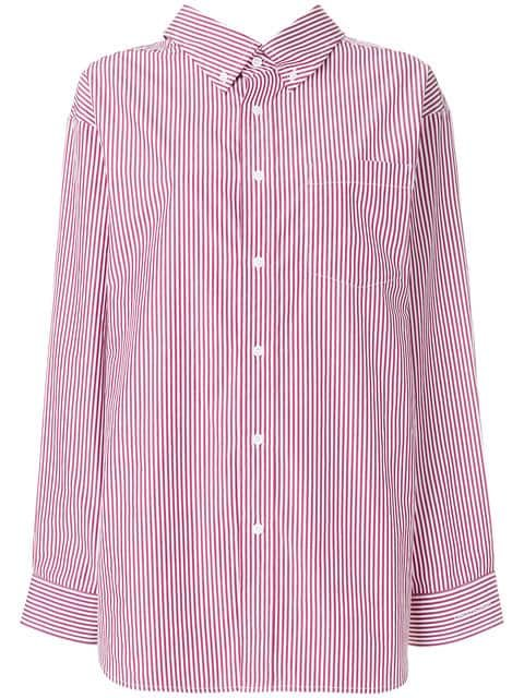 Balenciaga Swing Oversized Striped Shirt - Farfetch