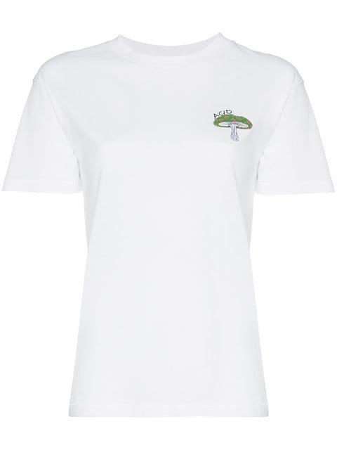 Ganni Mushroom Motif T-shirt - Farfetch