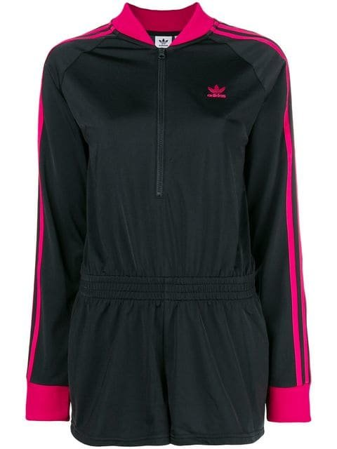 Adidas Contrast Sleeve Playsuit - Farfetch