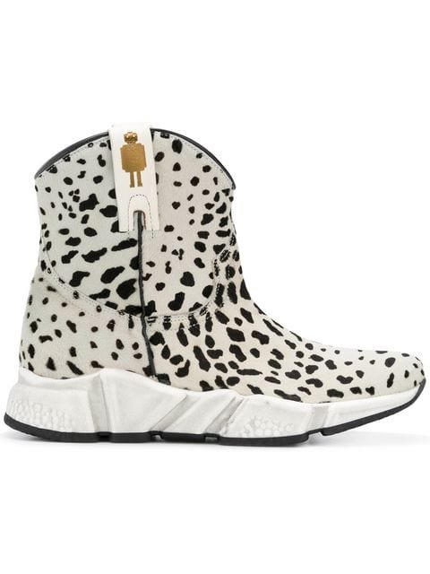Texas Robot Animal Print Ankle Boots - Farfetch