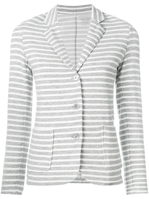 Majestic Filatures Striped Fitted Blazer - Farfetch