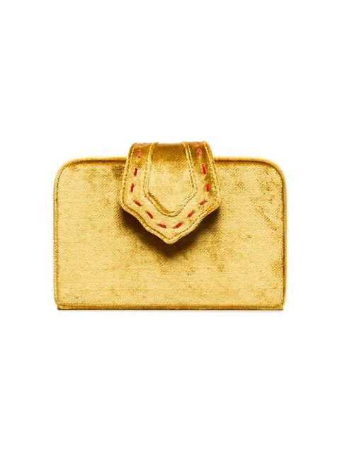 Mehry Mu Yellow Fey Mini Velvet Clutch - Farfetch