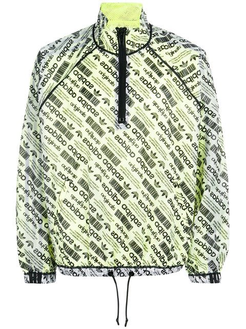 Adidas Originals By Alexander Wang Logo-print Windbreaker - Farfetch