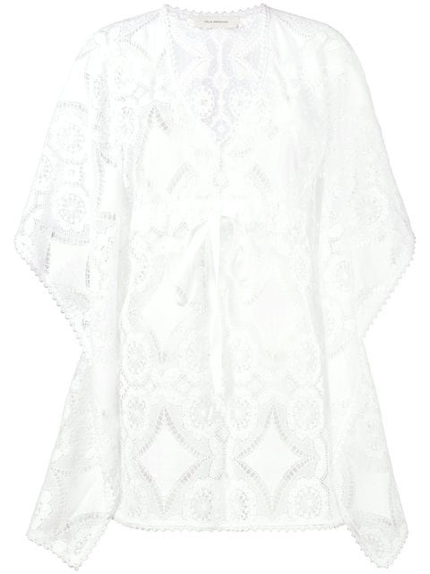 Celia Dragouni Lace Kaftan Top - Farfetch
