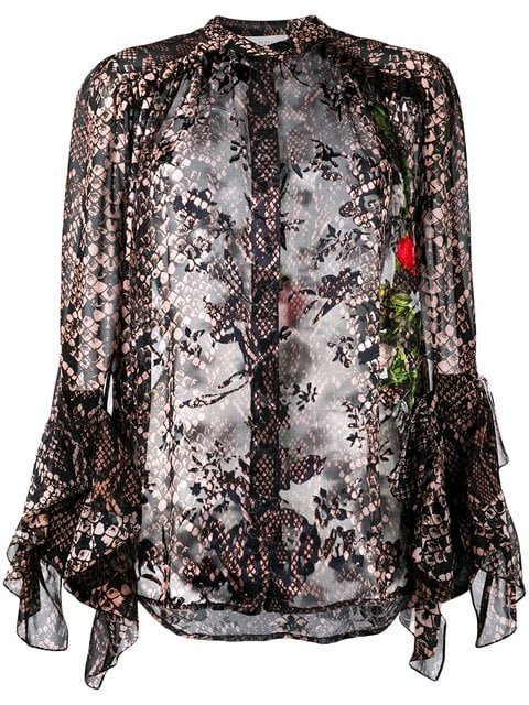 Preen By Thornton Bregazzi Floral And Snakeskin Print Blouse - Farfetch