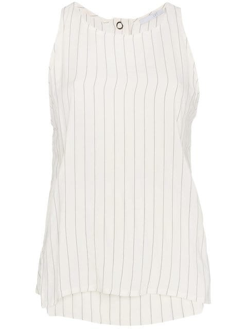 Lot78 Striped Sleeveless Top - Farfetch