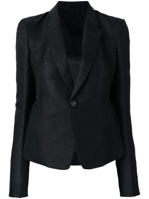 Rick Owens Striped Fitted Blazer - Farfetch