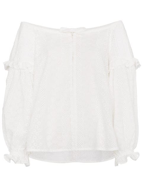 Innika Choo Ramie Off Shoulder Blouse - Farfetch