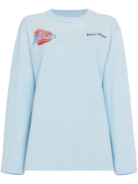 Palm Angels Adios Oversized Long Sleeve T-shirt - Farfetch