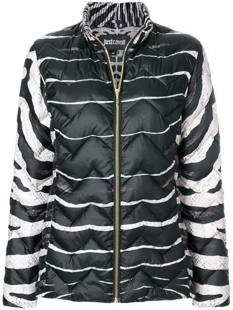 Just Cavalli Zebra Print Puffer Jacket - Farfetch