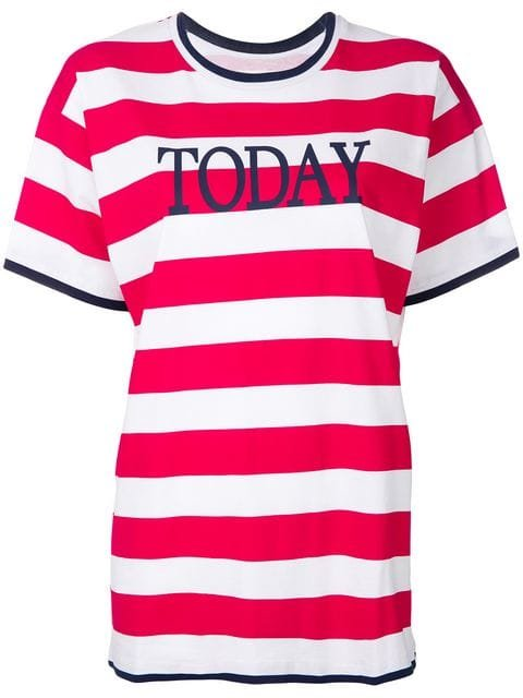 Alberta Ferretti Striped T-shirt  - Farfetch