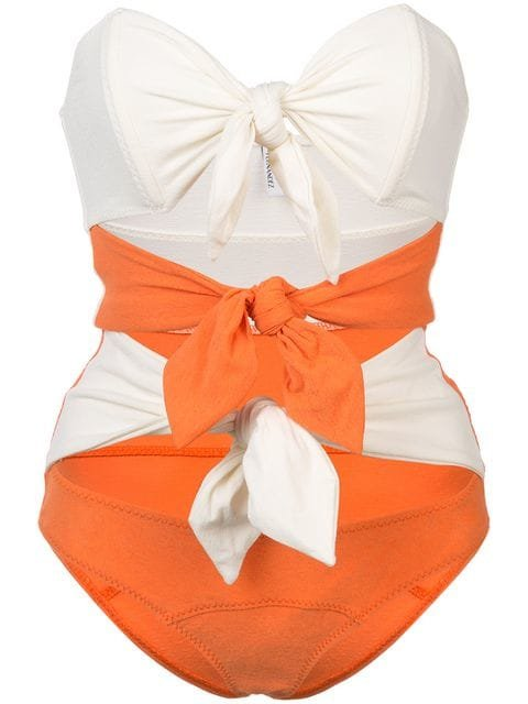 Lisa Marie Fernandez Triple Poppy Knotted Swimsuit - Farfetch