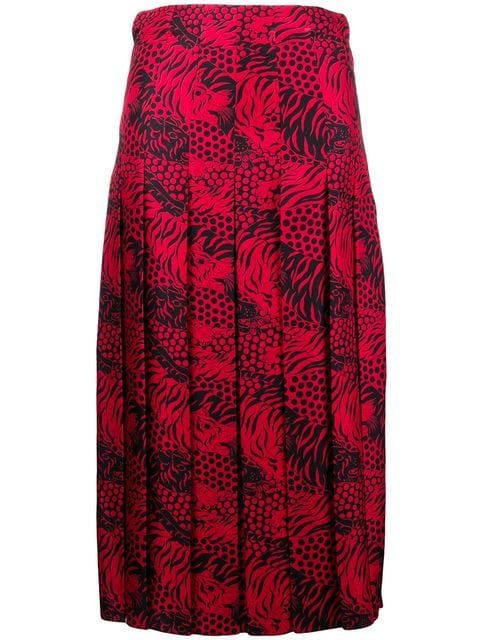 Gucci Tiger Print Midi Skirt - Farfetch