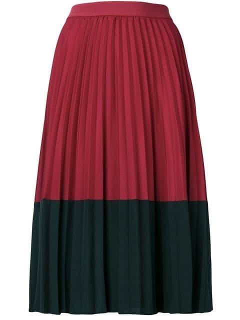 Pinko Colour Block Pleated Skirt - Farfetch