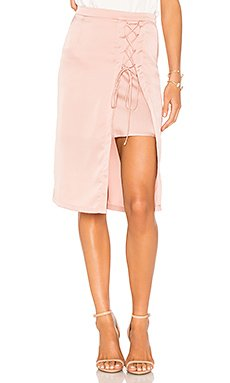 Layered Lace Up Pencil Skirt                                             krisa