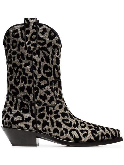 Texan 40 Leopard Cowboy Boots