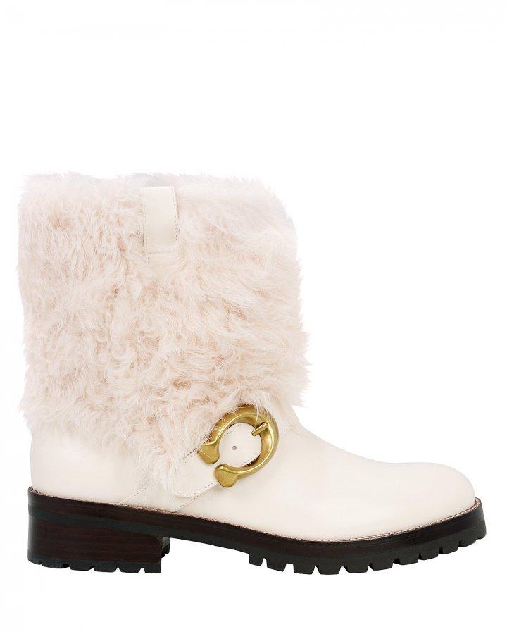 Leighton White Boots