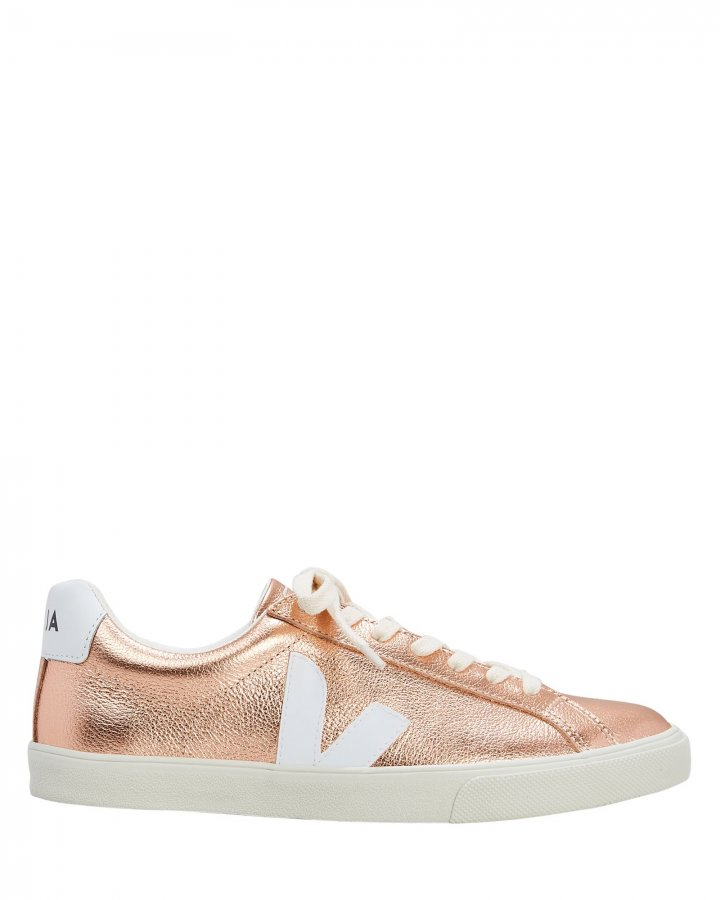 Esplar Rose Gold Low-Top Sneakers
