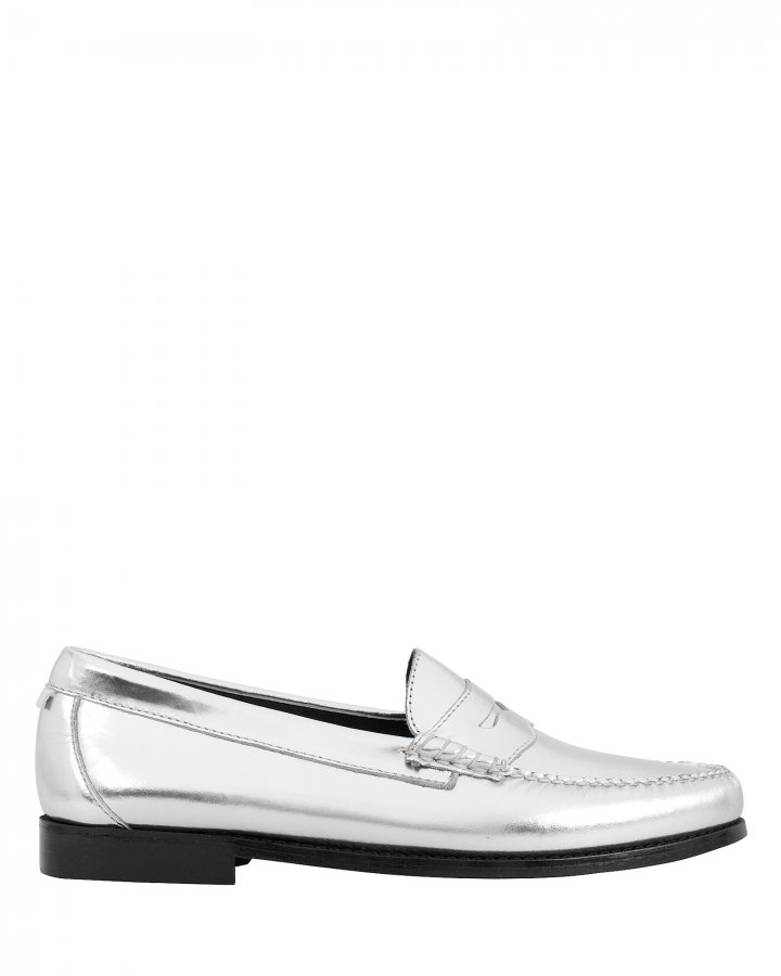 Whitney Metallic Silver Loafers