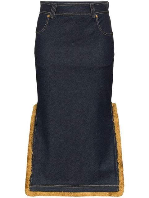 Versace High-Waisted Denim Midi-Skirt - Farfetch