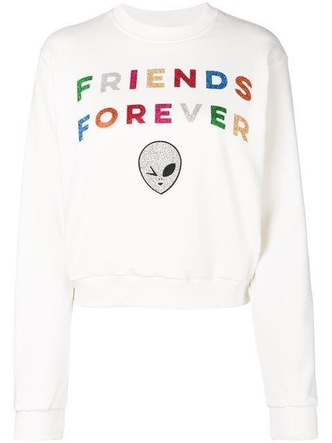 Chiara Ferragni Metallic Print Sweatshirt - Farfetch