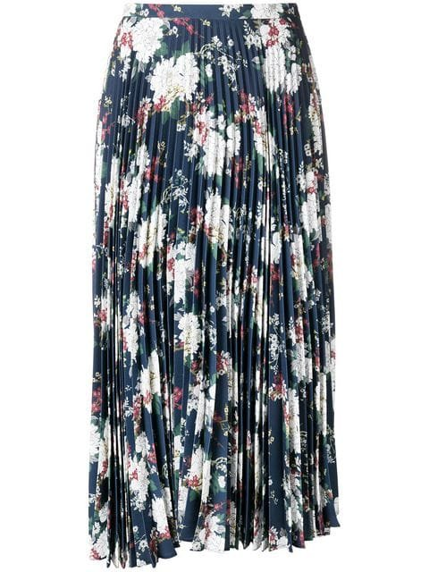 Act N°1 Floral Pleated Skirt - Farfetch