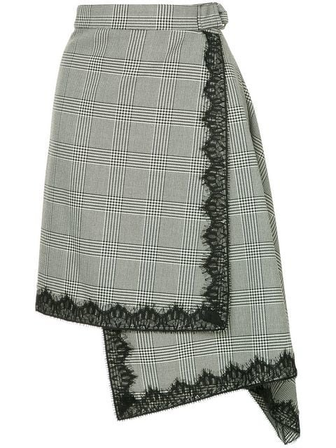 Robert Rodriguez Checked Asymmetric Skirt - Farfetch